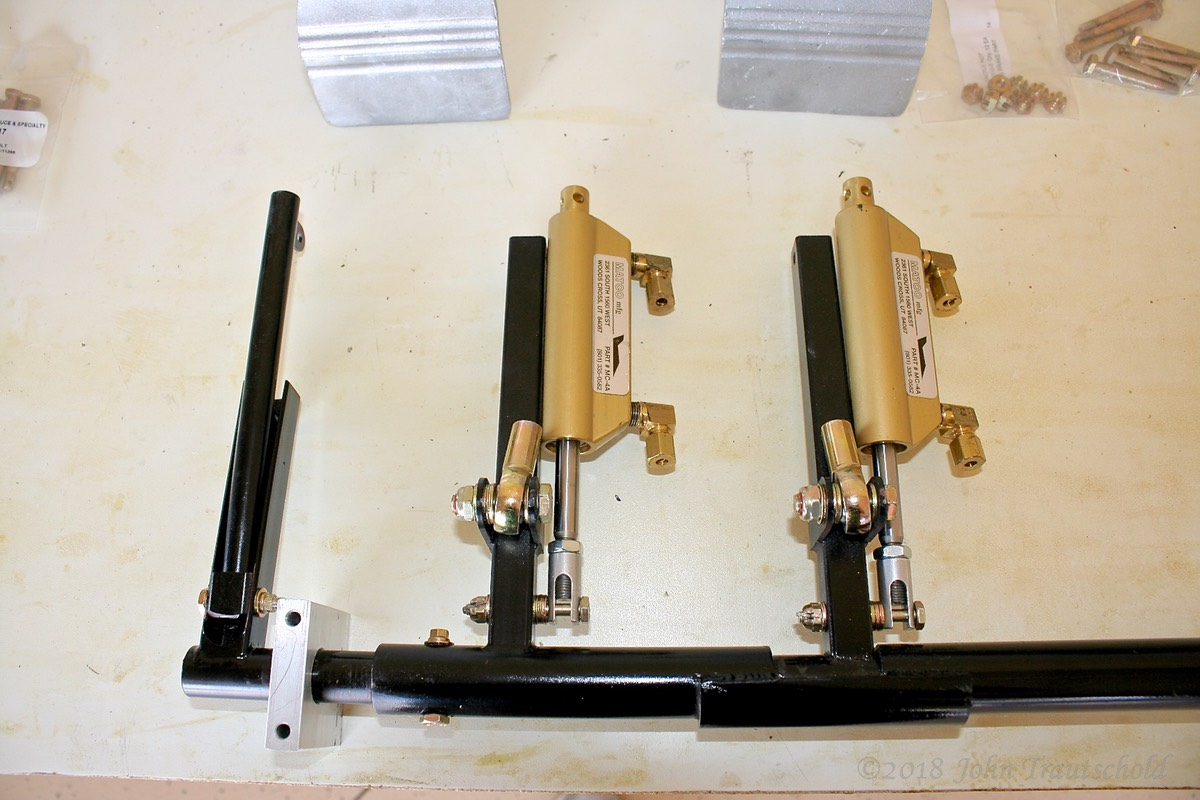 Fuselage - Brake and Rudder Pedal Assembly - Attaching Brake Cylinders