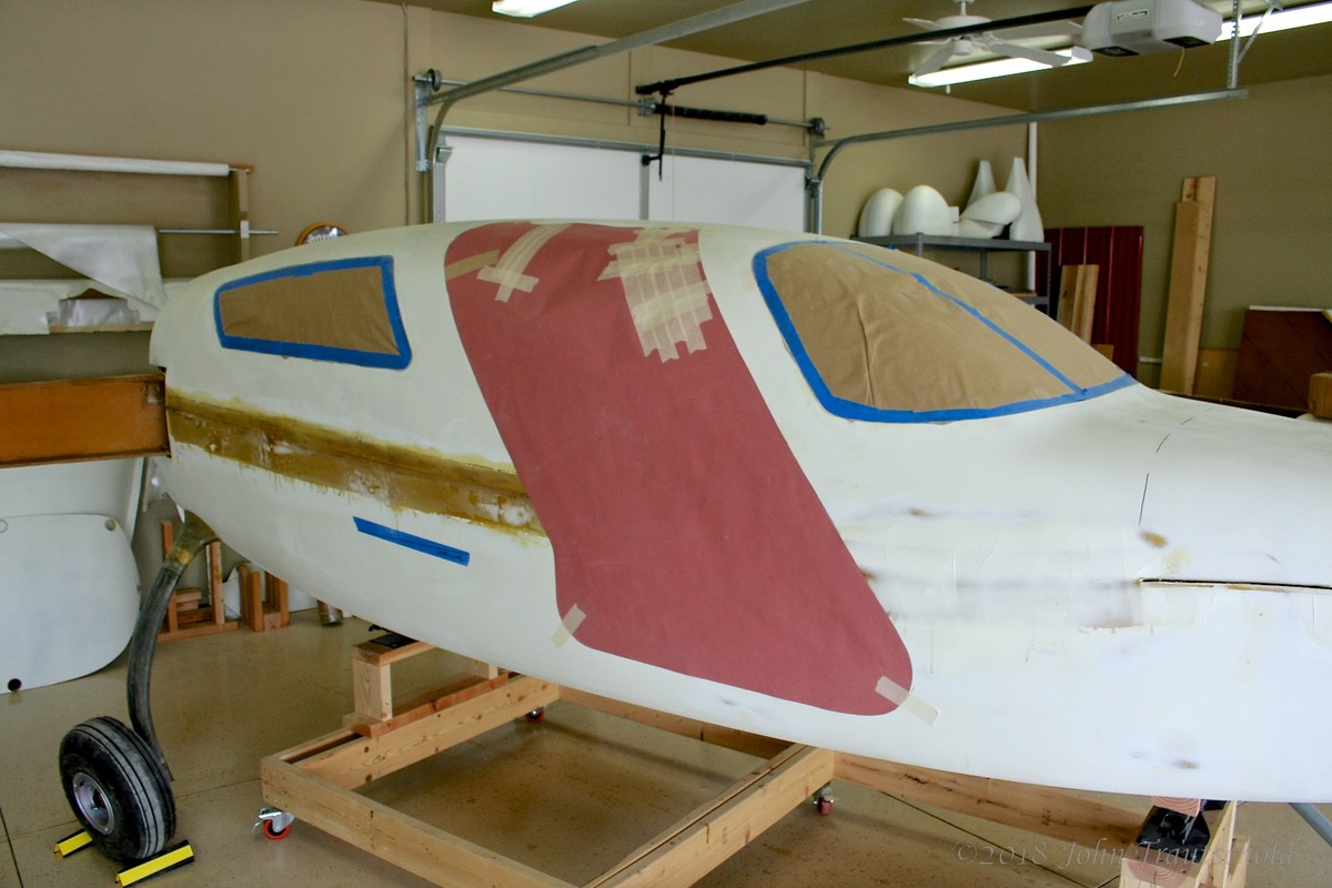 Fuselage - Door Cut Template - Co-Pilot Side in Place