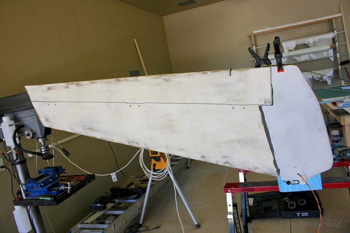 Lower Winglet Epoxied in Place (1)